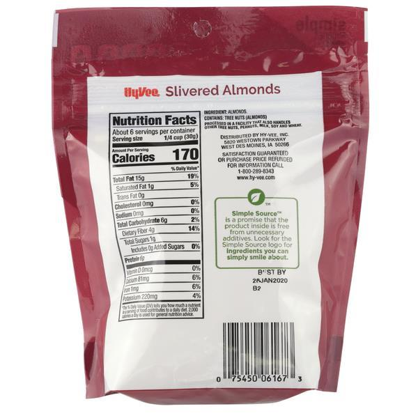 Hy-Vee Slivered Almonds