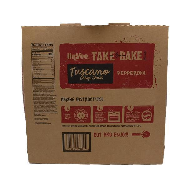 Hy-Vee Take & Bake Pepperoni Medium Tuscano Crisp Crust Pizza
